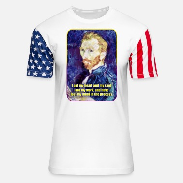 Painting Vincent van Gogh - Quote - Painting - Art - Artist - Unisex Stars & Stripes T-Shirt