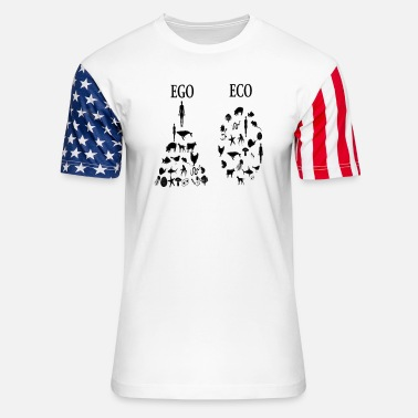 Ego animal rights ego vs eco - Unisex Stars & Stripes T-Shirt