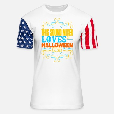 Mixer This Sound Mixer Loves 31st Oct Halloween Party - Unisex Stars & Stripes T-Shirt