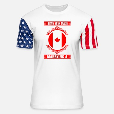 Decision Marrying A Canadian - Unisex Stars & Stripes T-Shirt