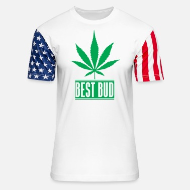Buds Best bud - Unisex Stars & Stripes T-Shirt