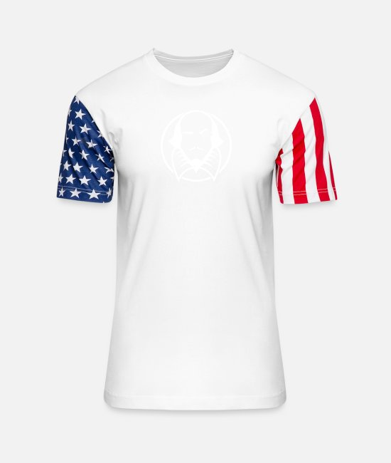 Reading T-Shirts - Literature Gifts For Kids Writer Gifts Literary Tshirts - Unisex Stars & Stripes T-Shirt white