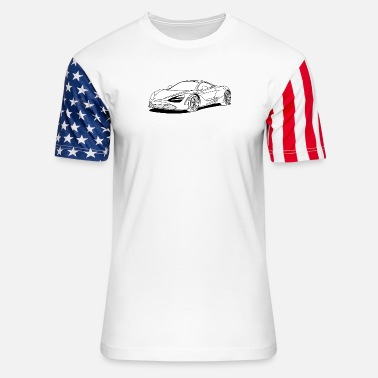 Sportscar 720s Coupe filled in - Unisex Stars & Stripes T-Shirt