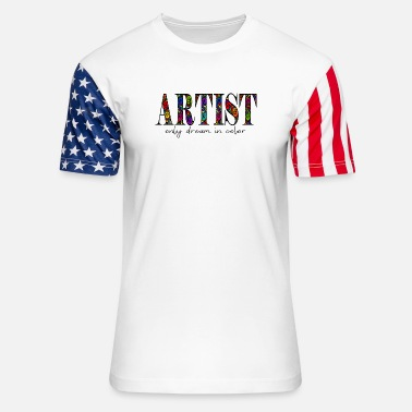 Violet Artist Dream in Color - Unisex Stars & Stripes T-Shirt
