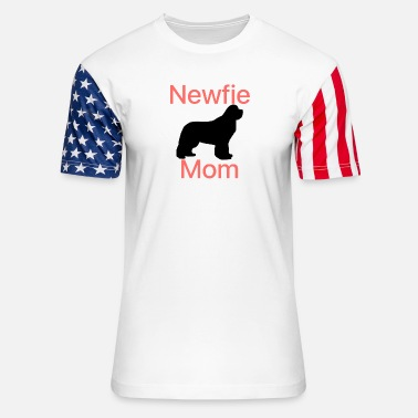 Newfie Mom - Unisex Stars & Stripes T-Shirt