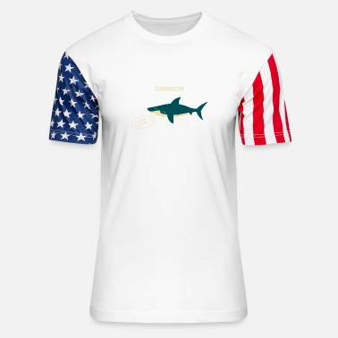 Salad Sharkasm Sea Animal I Love Salad - Unisex Stars & Stripes T-Shirt