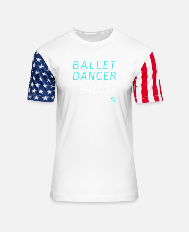Quote T-Shirts - San Francisco Ballet Tee - Unisex Stars & Stripes T-Shirt white