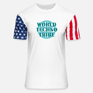 Techno Music World techno tribe music gift raving concert - Unisex Stars & Stripes T-Shirt