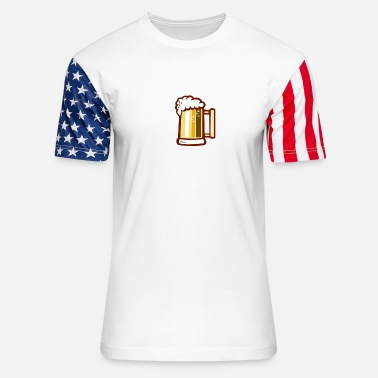 Beer Stein Beer Stein Isolated Retro - Stars & Stripes T-Shirt