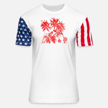 Bestseller Palm trees - Unisex Stars & Stripes T-Shirt