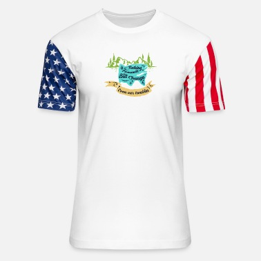 Permanent Position Nothing Is Permanent - Unisex Stars & Stripes T-Shirt