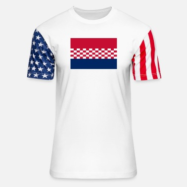 Usta flag croatia design - Unisex Stars & Stripes T-Shirt