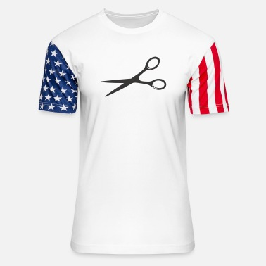 Haircutter Haircutter Scissors - Unisex Stars & Stripes T-Shirt