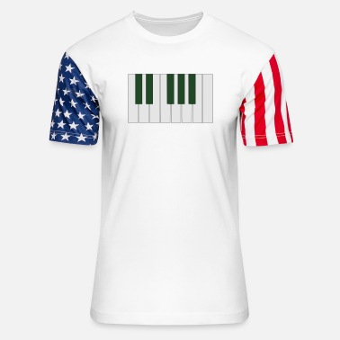 Octave One octave piano keyboard - Unisex Stars & Stripes T-Shirt