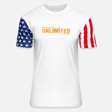 Unlimited Martial Arts Unlimited Victoria - Unisex Stars & Stripes T-Shirt