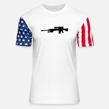 sniper_rifle - Unisex Stars & Stripes T-Shirt