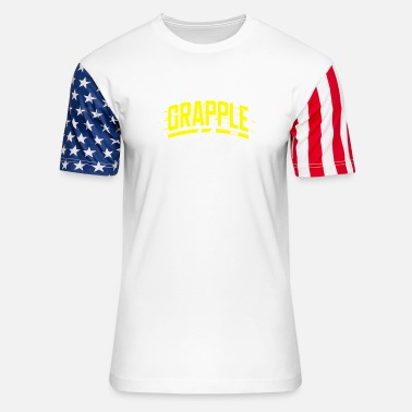 Grappling grapple - Unisex Stars & Stripes T-Shirt