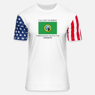 Washington Washington Vancouver LDS Mission Called to Serve F - Unisex Stars & Stripes T-Shirt