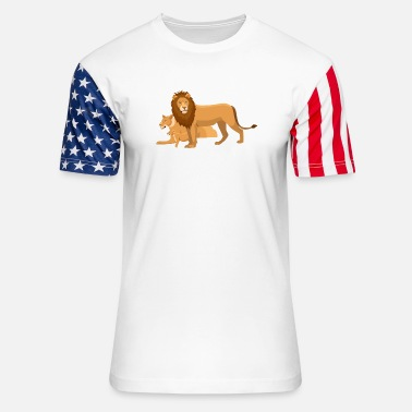 Lion Dog lion - Stars & Stripes T-Shirt
