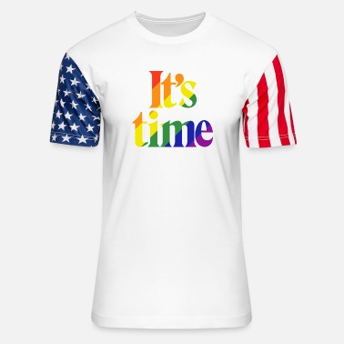 Same Sex It's Time - For Same Sex Marriage - Unisex Stars & Stripes T-Shirt