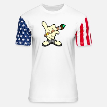 Hand Drawn Hand Drawn - Unisex Stars & Stripes T-Shirt