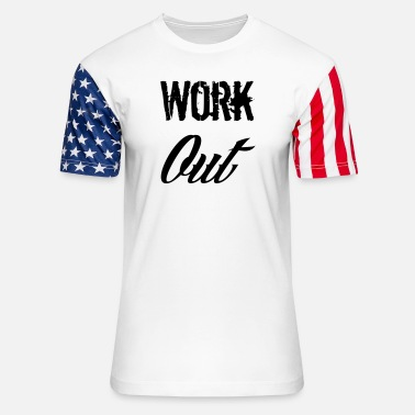 Work Out work out - Unisex Stars & Stripes T-Shirt