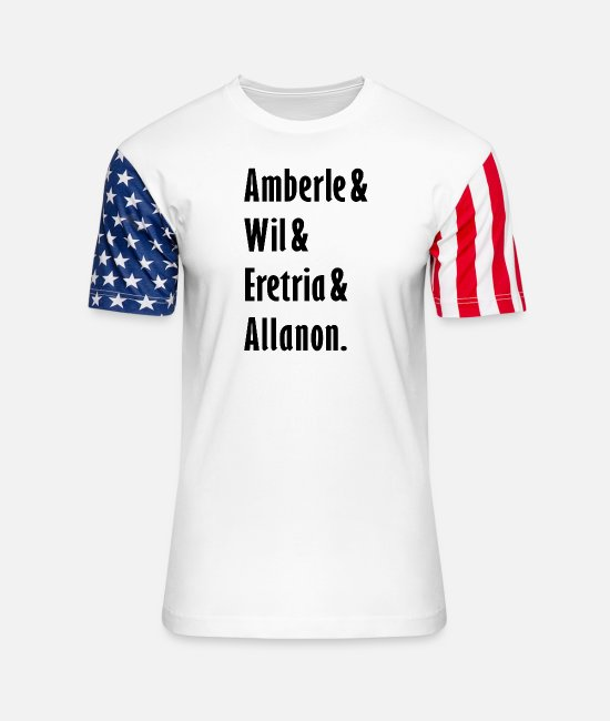 Druid T-Shirts - The Shannara Chronicles - Characters - Unisex Stars & Stripes T-Shirt white