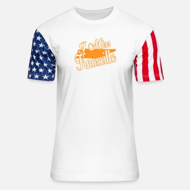 Knoxville Knoxville - i miss knoxville - Unisex Stars & Stripes T-Shirt
