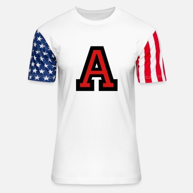 Write Your Name Letter A - Unisex Stars & Stripes T-Shirt