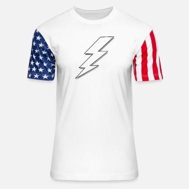 Lightning lightning bolt - Unisex Stars & Stripes T-Shirt