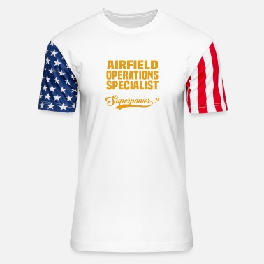 Airfield Airfield Operations Specialist - Stars & Stripes T-Shirt