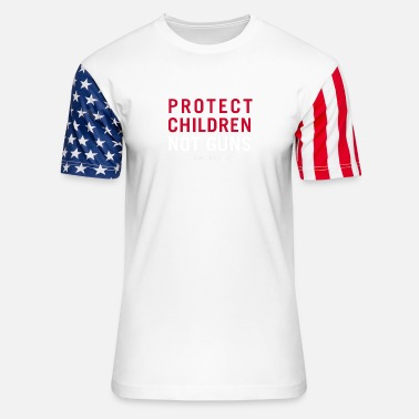 Protect Protect Children Not Guns - Unisex Stars & Stripes T-Shirt