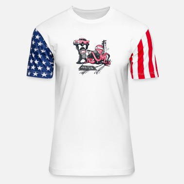 Road Construction Road Closed - Unisex Stars & Stripes T-Shirt