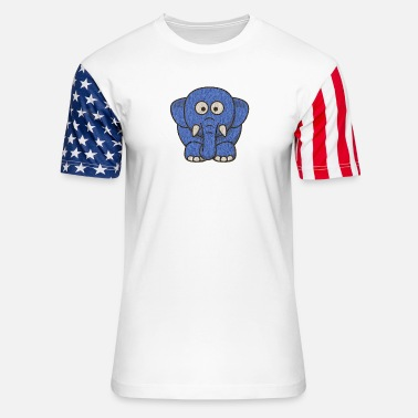 elephant - Unisex Stars & Stripes T-Shirt