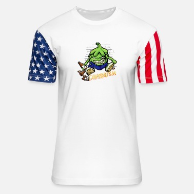 Hop Craft Beer Drinking Hops Cannibalism Cool - Unisex Stars & Stripes T-Shirt
