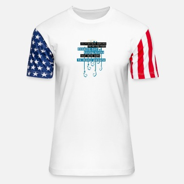 Iq jellyfish survived million years without brain IQ - Unisex Stars & Stripes T-Shirt