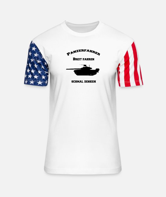 Usa T-Shirts - Tank driver Bundeswehr gift idea grenadiers - Unisex Stars & Stripes T-Shirt white