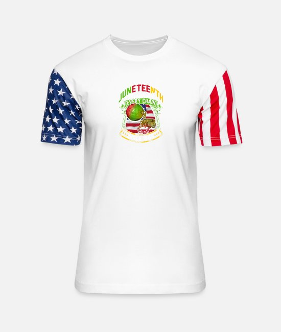 Slavery T-Shirts - Juneteenth Breaking Every Chain Since 1865 - Unisex Stars & Stripes T-Shirt white