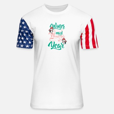 Winter is the most wonderful time of the year - Unisex Stars & Stripes T-Shirt