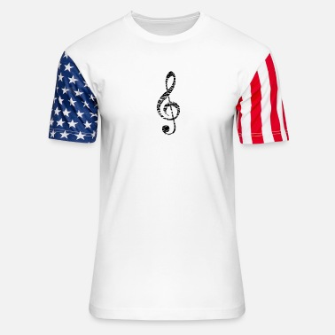 Treble Clef treble clef - Unisex Stars & Stripes T-Shirt