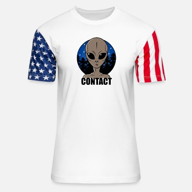 Contact Contact Extraterrestre - Unisex Stars & Stripes T-Shirt