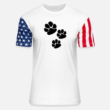 Dog Paw Dog Paw - Unisex Stars & Stripes T-Shirt