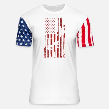 Shaped Guns- Guns flag t-shirt for American lovers - Unisex Stars & Stripes T-Shirt