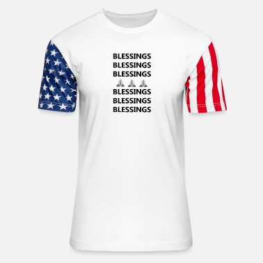Blessed Home Blessings on Blessings - Unisex Stars & Stripes T-Shirt