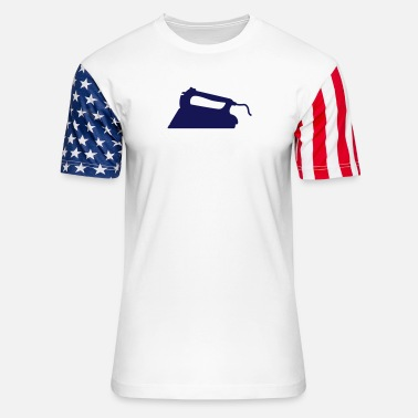 Ironing iron - Unisex Stars & Stripes T-Shirt