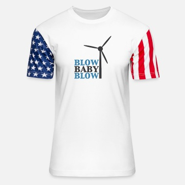 Turbine Blow Baby Blow Wind Turbine - Unisex Stars & Stripes T-Shirt