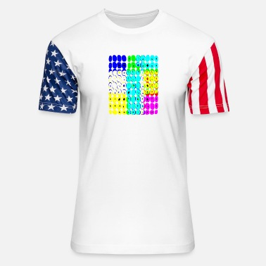 Colorful Circles Colored Circles - Unisex Stars & Stripes T-Shirt