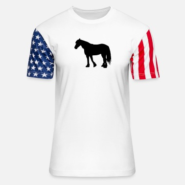 Frisian Cold blood Frisian - Unisex Stars & Stripes T-Shirt