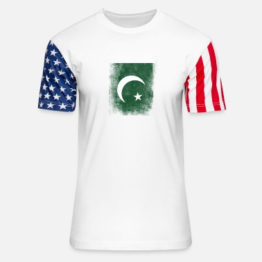 Pakistan Pakistan Flag Proud Pakistan Vintage Distressed - Unisex Stars & Stripes T-Shirt