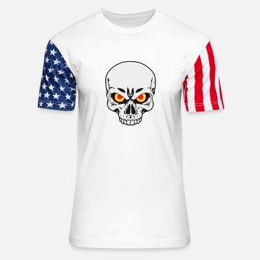 Dark Side Skull Fantasy Horror Halloween demon satan - Unisex Stars & Stripes T-Shirt